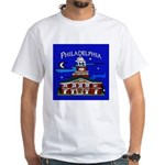 Philadelphia Starry Night White T-Shirt