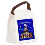 Philadelphia Starry Night Canvas Lunch Bag