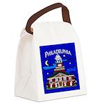 Philadelphia Starry Night Canvas Lunch Bag