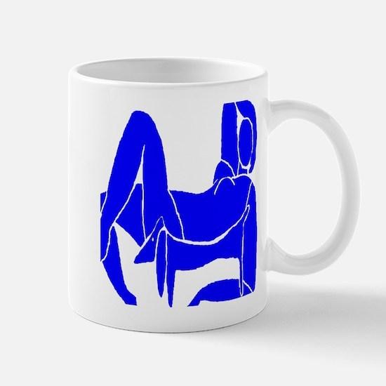 Blue Nude Dachshund Mug