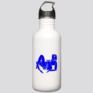 Blue Nude With Cat Stainless Water Bottle 1.0L
