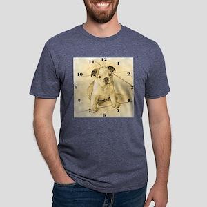 wallclocklgbulldogpup Mens Tri-blend T-Shirt