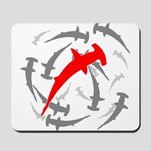 Circling Hammerhead Sharks Mousepad