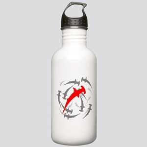 Circling Hammerhead Sharks Stainless Water Bottle
