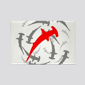 Circling Hammerhead Sharks Rectangle Magnet