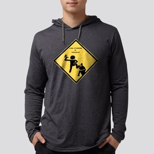 Curb sign Mens Hooded Shirt