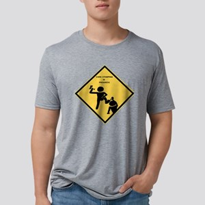 Curb sign Mens Tri-blend T-Shirt
