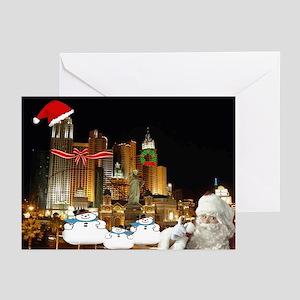 3 Wise Snowmen & Santa Greeting Cards (Pk of 2