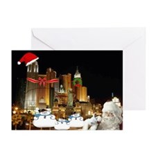 3 Wise Snowmen & Santa Greeting Cards (Pk of 2