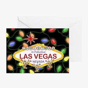 Las Vegas Christmas Light Greeting Cards Pk of 20
