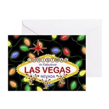 Las Vegas Christmas Light Greeting Cards Pk of 20