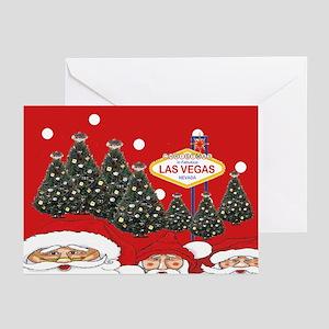 Las Vegas Christmas trees Greeting Cards Pk of 20