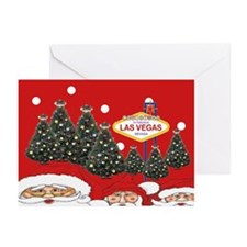 Las Vegas Christmas trees Greeting Cards Pk of 20