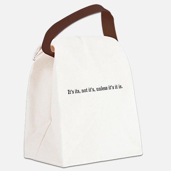 Funny Grammar Canvas Lunch Bag