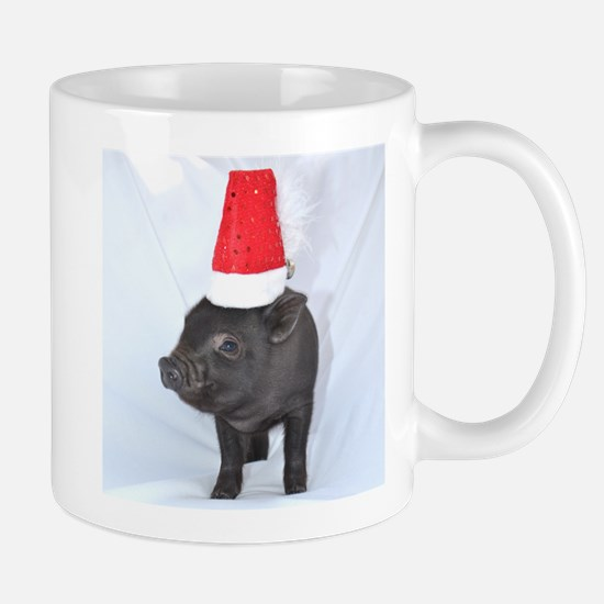 Santa micro pig square design Mug