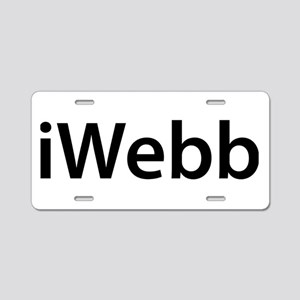 iWebb Aluminum License Plate