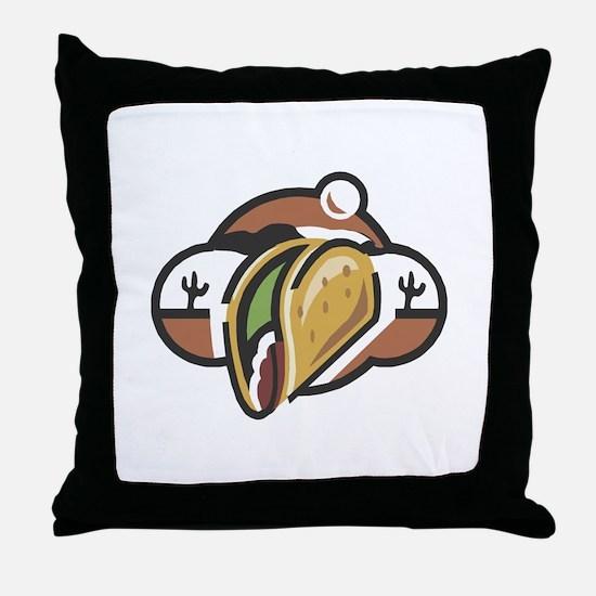 Mexican Taco Throw Pillow