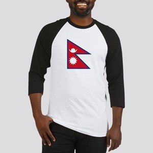 Nepal Flag Picture Baseball Jersey