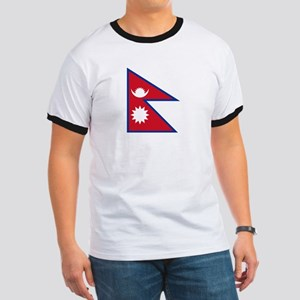 Nepal Flag Picture Ringer T