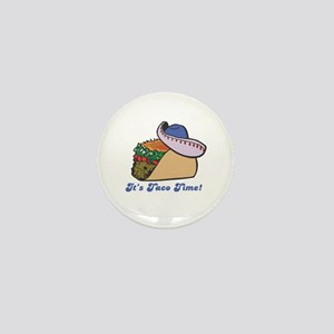 Taco Time (Taco with Sombrero) Mini Button