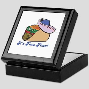 Taco Time (Taco with Sombrero) Keepsake Box