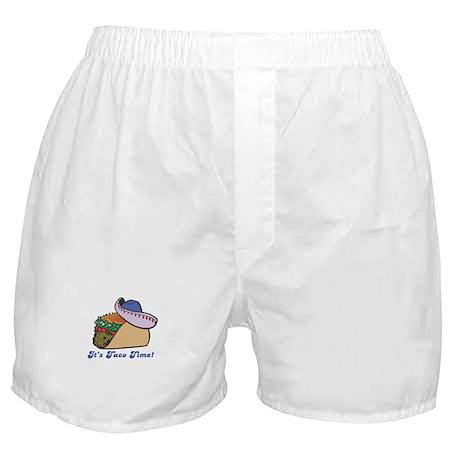 Taco Time (Taco with Sombrero) Boxer Shorts