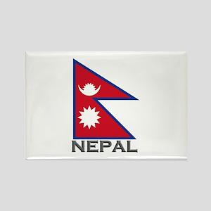 Nepal Flag Stuff Rectangle Magnet