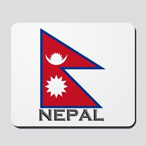 Nepal Flag Stuff Mousepad