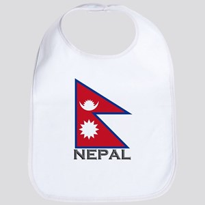 Nepal Flag Stuff Bib