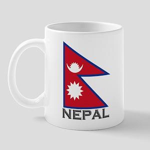 Nepal Flag Stuff Mug