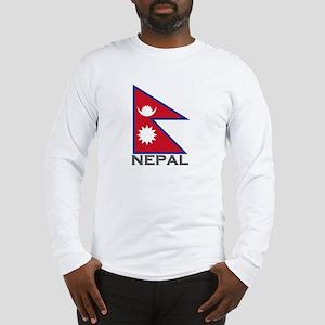 Nepal Flag Stuff Long Sleeve T-Shirt