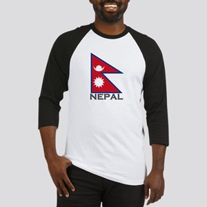 Nepal Flag Stuff Baseball Jersey
