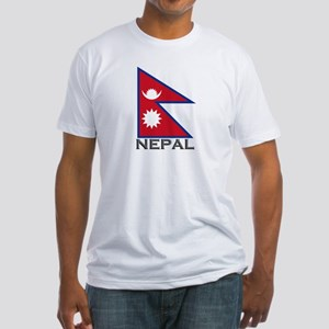 Nepal Flag Stuff Fitted T-Shirt