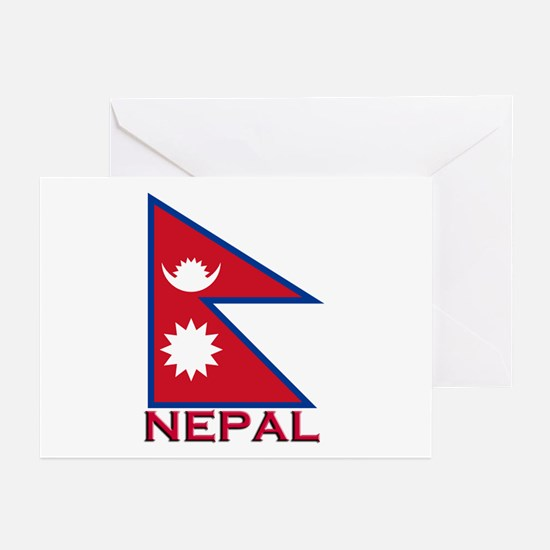 Nepal Flag Gear Greeting Cards (Pk of 10)