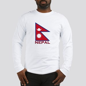 Nepal Flag Gear Long Sleeve T-Shirt