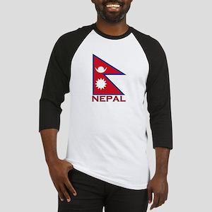 Nepal Flag Gear Baseball Jersey