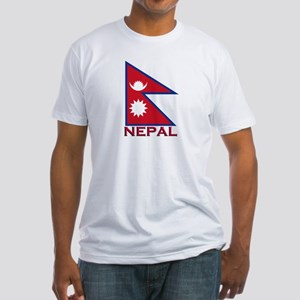 Nepal Flag Gear Fitted T-Shirt
