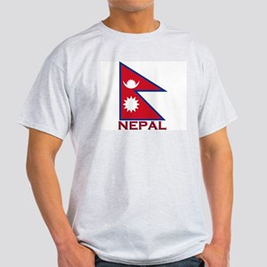 Nepal Flag Gear Ash Grey T-Shirt