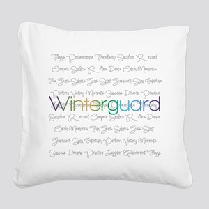 Winterguard Square Canvas Pillow