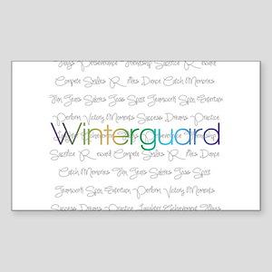 Winterguard Sticker (Rectangle)