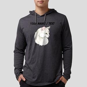 Custom White Cat Mens Hooded Shirt