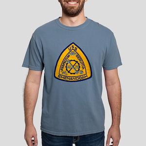 uss shenandoah patch tra Mens Comfort Colors Shirt