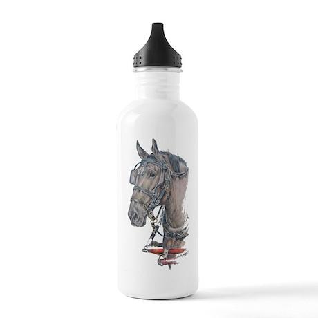 Percheron Draft horse harness Stainless Water Bott
