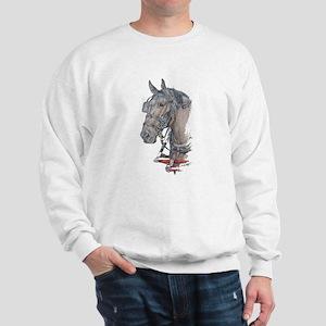 Percheron Draft horse harness Sweatshirt
