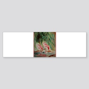 Flamingos, bird, wildlife art! Sticker (Bumper)