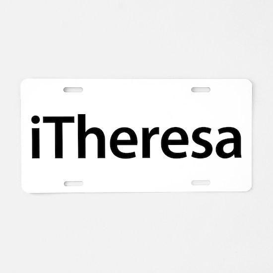 iTheresa Aluminum License Plate