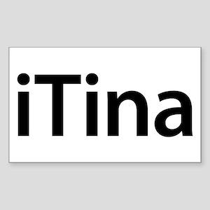 iTina Rectangle Sticker