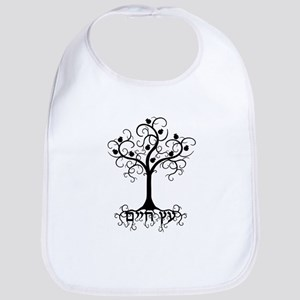 Hebrew Tree of Life Baby Bib