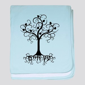 Hebrew Tree of Life baby blanket