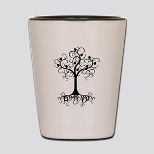 Hebrew Tree of Life Shot Glass